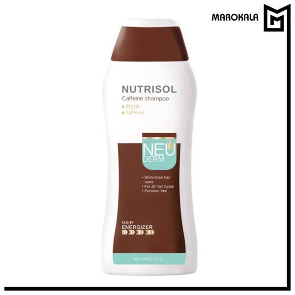 شامپو تقویت کننده کافئین نئودرم مدل Nutrisol مناسب انواع مو 300 میلی لیتر